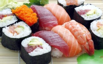 What kind of fish can be used for sushi?